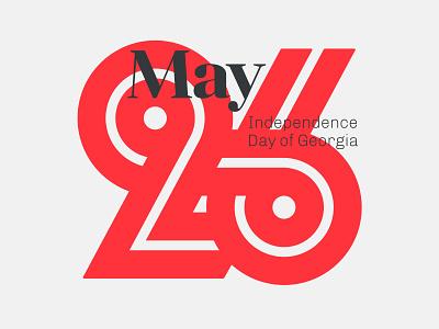 26 May / Independence Day of Georgia kakhadzen poster design poster freedom independence day georgia 26 may 26 logo mark symbol negative space logotype typography letter monogram symbol mark logo