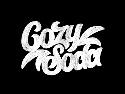 Cozy Soda Lettering / Sketch cozy soda letters lettering art lettering logo lettering logotype typography letter monogram symbol mark logo