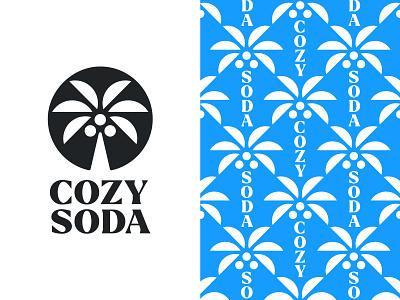 Cozy Soda V2 branding cozy cozy soda palm tree palm logo palm logo mark symbol negative space logotype typography letter monogram symbol mark logo