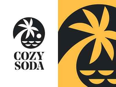 Cozy Soda V4 tree logo cozy soda palm logo palm illustration design logotype typography letter monogram symbol mark logo