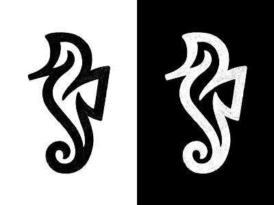Seahorse / Sketch sketch line logo seahorse logo seahorse symbol mark logo