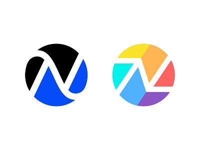 N / Circle / V2 / V3 circle logo letter n n logo illustration design logotype typography letter monogram symbol mark logo