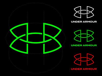 Under Armour / Unofficial Logo Concept kakhadzen identity design ua monogram sport logo logo concept branding under armour illustration design logotype typography letter monogram symbol mark logo