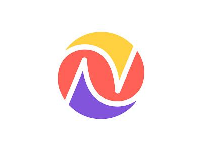 N / Circle / V4 circle n letter n n logo design logotype typography letter monogram symbol mark logo