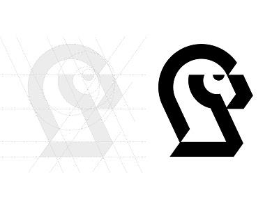 Knight V1 horse horse logo chess piece knight logo knight logotype typography letter monogram symbol mark logo