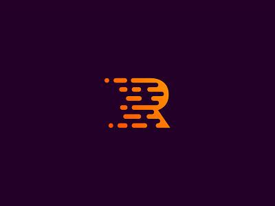 R typography r logo letter symbol logotype kakha kakhadzen rays letterform comet meteor