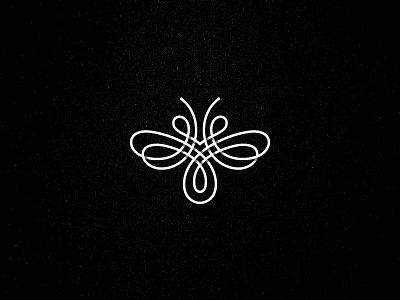 Bee symbol mark bee logo line kakhadzen kakha