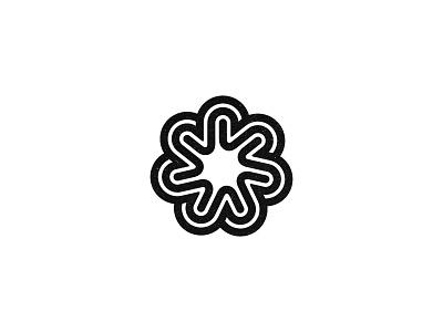 Flower logo symbol flower mark line love kakhadzen kakha
