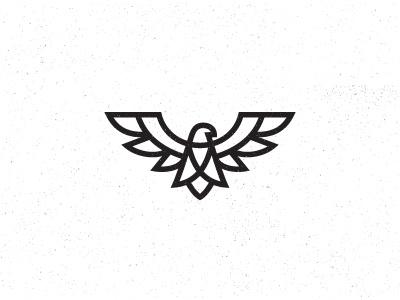 Eagle mark symbol kakhadzen bird eagle line kakha logo