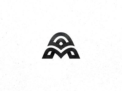 AM am monogram mark logo