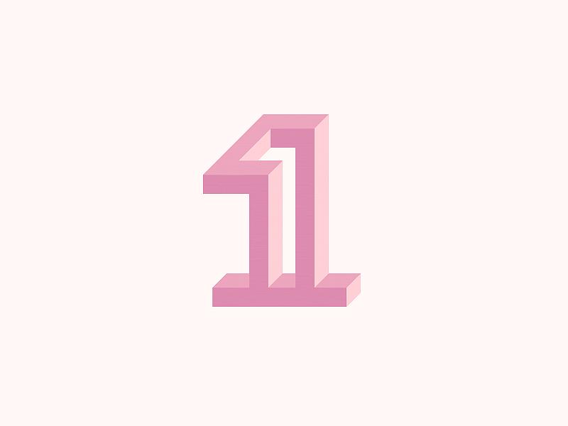 1 number 1 symbol mark logo