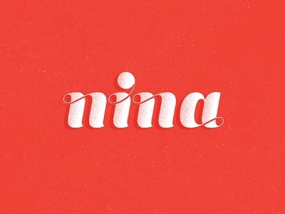 nina nina lettering symbol mark logo