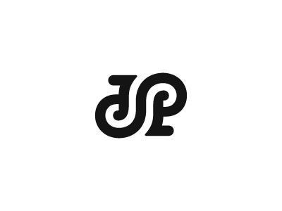JP Ambigram ambigram logo mark symbol