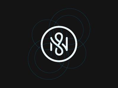 N Grid typography letter letterform monogram ambigram grid n logo mark symbol