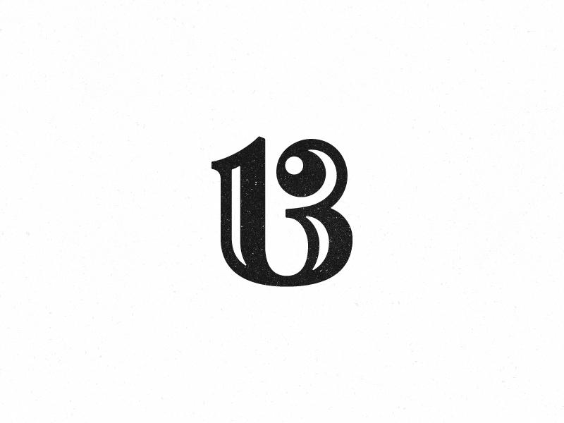 13 number 13 logo mark symbol