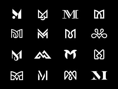 M / Eighth-Finals monogram letter m logo mark symbol