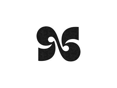 N / 96 n monogram logo mark symbol