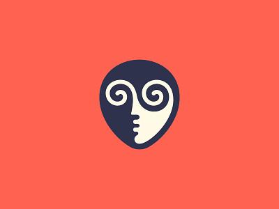 WIP kakhadzen hipnotic human man face symbol mark logo
