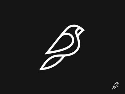 4 kakhadzen line bird symbol mark logo