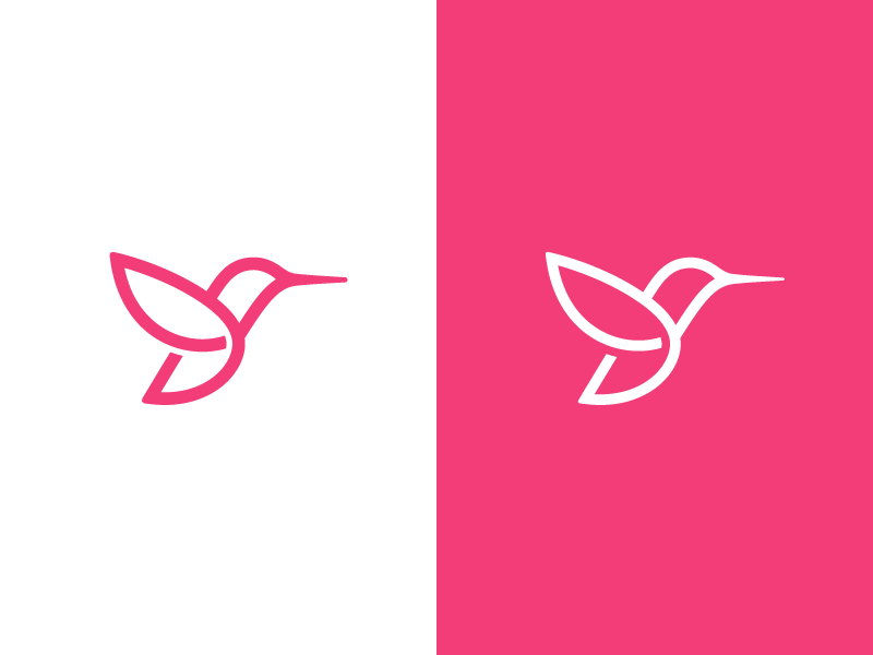 Hummingbird hummingbird bird symbol mark logo
