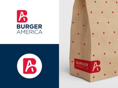 Wip 1 burger usa ab logotype typography monogram b a letter symbol mark logo