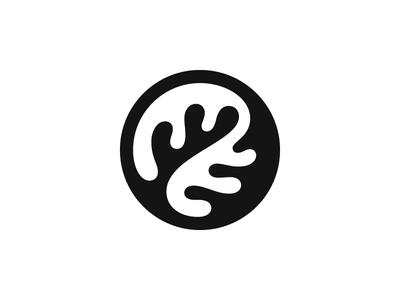 Oak Leaf kakhadzen zen forest jang jin negative space nature oak leaf tree symbol mark logo
