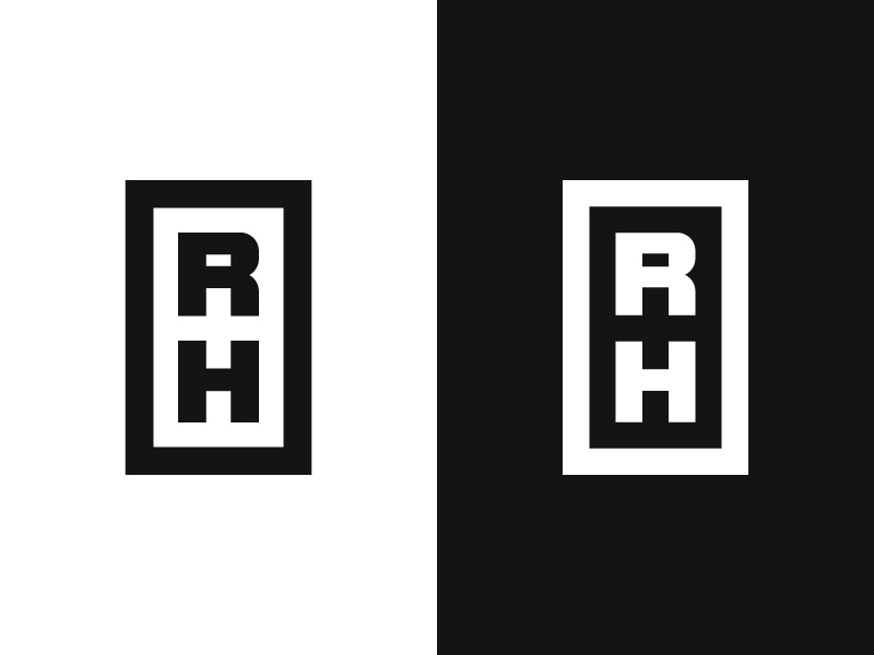 R+H / Regional Hospital / V1 rh monogram health hospital medical symbol mark logo