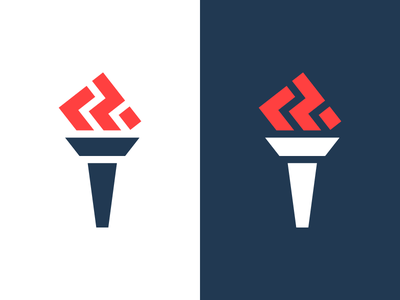 Torch fire torch symbol mark logo