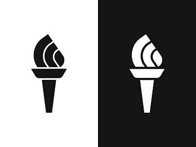 Torch 1 fire torch symbol mark logo