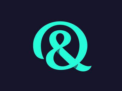 Qampersand ampersand logotype typography monogram q letter symbol mark logo
