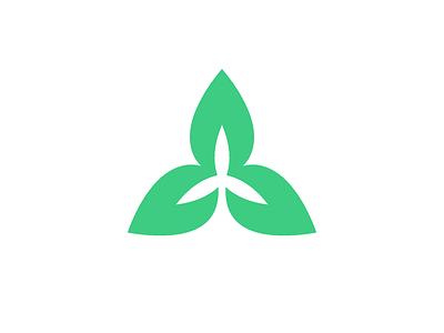 Green Tech Icon (Leaves + Wind Turbine) green tech icon wind leaf leaves symbol mark logo