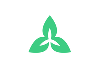 Green Tech Icon (Leaves + Wind Turbine)