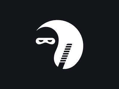 Yin Yang + Ninja yang yin ninja symbol mark logo