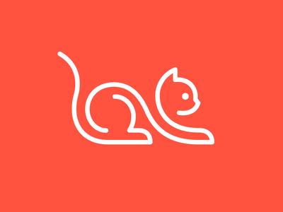 Cat animal cat symbol mark logo