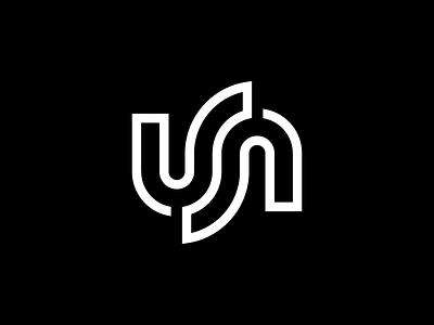 USA ambigram typography monogram flag icon usa symbol mark logo