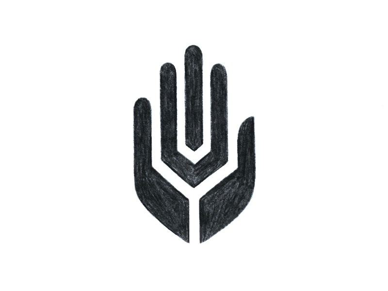 Hand Wheat 1 sketch wheat icon hand symbol mark logo