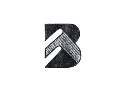 B for Books education creative typography monogram letter b icon book symbol mark logo