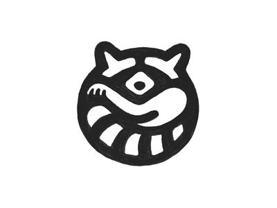 Raccoon / Sketch pencil cute animal raccoon sketch symbol mark logo