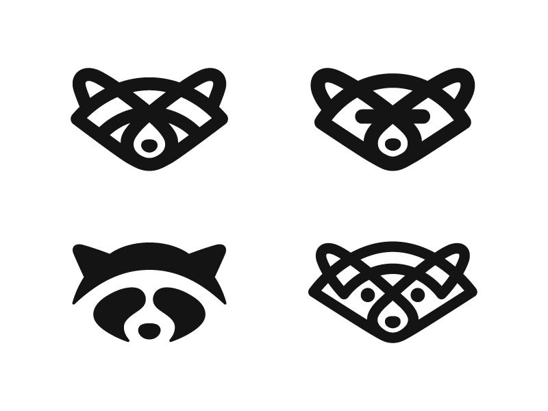 Raccoons animal raccoon symbol mark logo