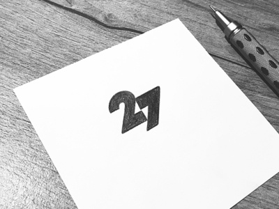 27⚡️ negative space lighting bolt thunder 7 2 number monogram symbol mark logo