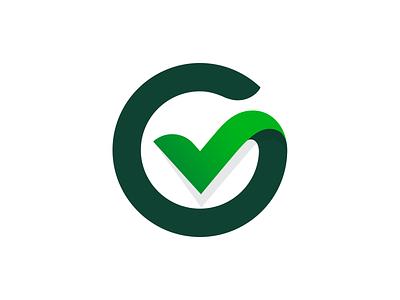 G + Check Mark g greenway green check mark typography logotype letter monogram symbol mark logo