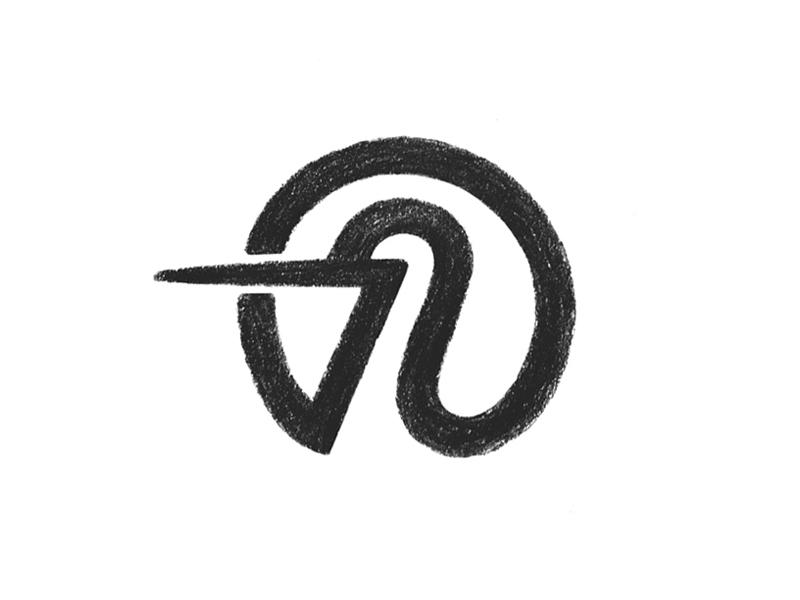 Stork sketch bird stork symbol mark logo