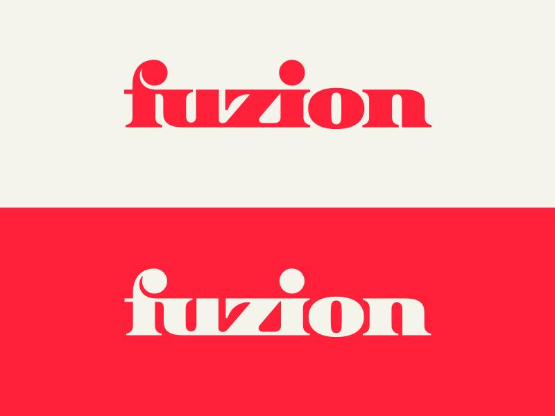Fuzion V.1 typography logotype letter symbol mark logo