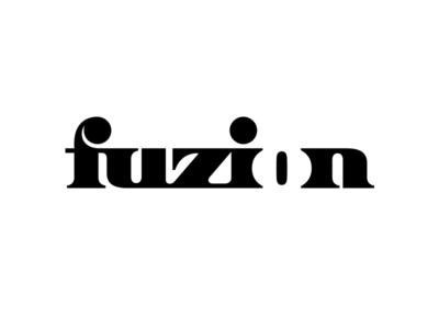 Fuzion V.1a negative space typography negative-space fuzion negative space logo negative space typography logotype letter monogram symbol mark logo
