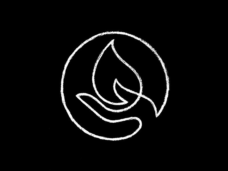 Hand / Fire / Sketch prometheus sketch hand fire symbol mark logo