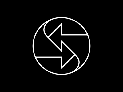Arrows circle arrows symbol mark logo