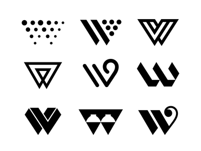 vv / w letters w v typography logotype letter monogram symbol mark logo