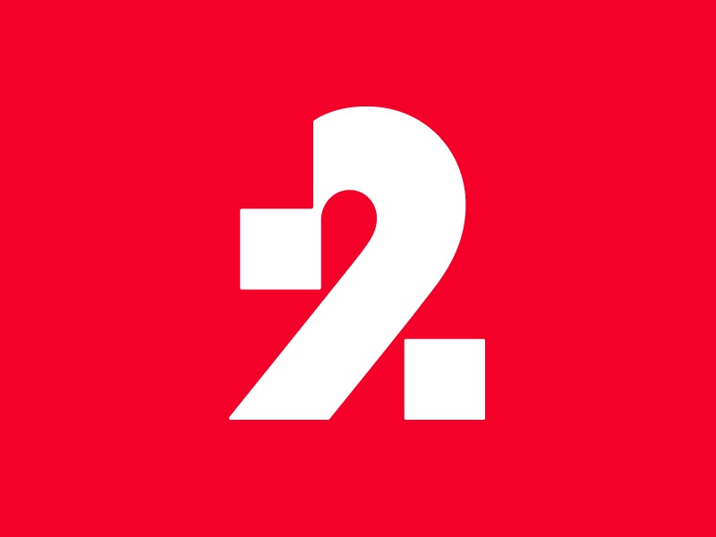 2% 2 typography logotype letter monogram symbol mark logo