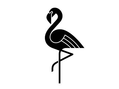 Flamingo 3 bird flamingo symbol mark logo