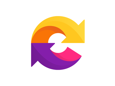C arrows arrow logo arrows colorfull logo letter c c logo c typography logotype letter monogram symbol mark logo